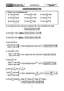 ( ) ( ) ( x ) ( ) ( ) ( ) v( x) u( x) ( ) EJERCICIOS RESUELTOS. 1. Calcula F a) ( x) en los siguientes casos: f ( t) = e. = x