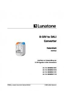 0-10V to DALI Converter