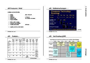 00 x86: Evolution Die x86-architektur PC-Technologie