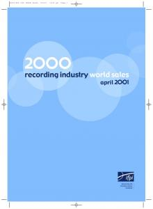 01 12:47 pm Page 2. recording industry world sales april 2 1