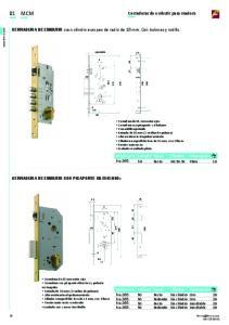 01 MCM Cerraduras de embutir para madera