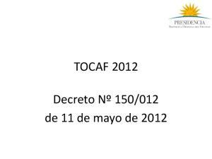 012 de 11 de mayo de 2012