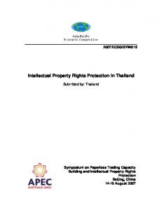 015 Intellectual Property Rights Protection in Thailand