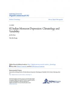 02 Indian Monsoon Depression: Climatology and Variability