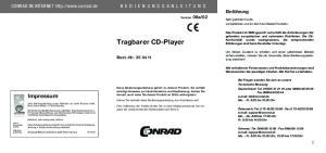02. Tragbarer CD-Player