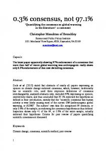 0.3% consensus, not 97.1% Quantifying the consensus on global warming in the literature : a comment