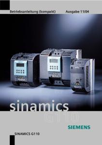 04. sinamics SINAMICS G110