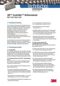 05. 3M Scotchlite Reflexmaterial Gelb-Silber-Gelb. 1. Produktbeschreibung