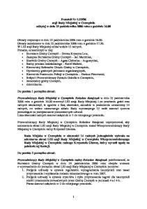 06 sesji Rady Miejskiej w Czempiniu odbytej w dniu 25 padziernika 2006 roku o godzinie 16.00