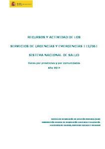 061 SISTEMA NACIONAL DE SALUD