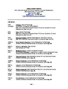 07 New York University s Steinhardt School of Culture, Education, & Human Development; New York, NY