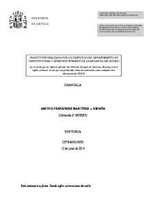 07) SENTENCIA ESTRASBURGO. 12 de junio de 2014