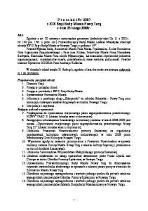 07 z XIX Sesji Rady Miasta Nowy Targ z dnia 25 lutego 2008r