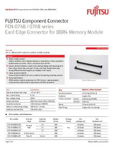 078B series Card Edge Connector for DDR4 Memory Module