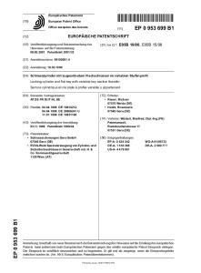 08. (72) Erfinder: Riesel, Michael Weida (DE) Hecht, Rosemarie Gera (DE) (56) Entgegenhaltungen: