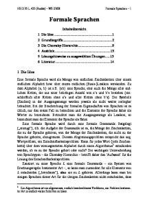 08 Formale Sprachen 1. Formale Sprachen
