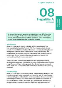08 Hepatitis A. Hepatitis A