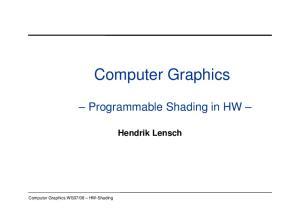 08 HW-Shading