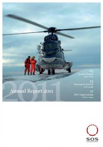 09 Quality Raised SOS Travel. 13 Services In Growth SOS Health. Annual Report New Opportunities SOS In China