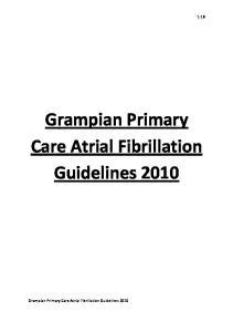 1-18. Grampian Primary Care Atrial Fibrillation Guidelines 2010