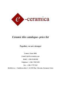 1 3Ceramic tiles catalogue- price list