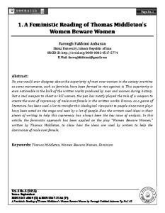 1. A Feministic Reading of Thomas Middleton's Women Bewaree Women