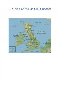 1. A map of the United Kingdom