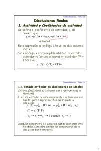1. Actividad y Coeficientes de actividad