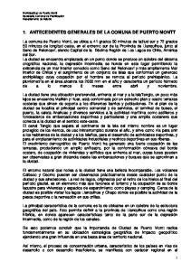 1. ANTECEDENTES GENERALES DE LA COMUNA DE PUERTO MONTT