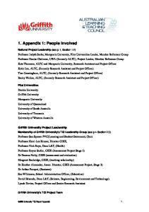 1. Appendix 1: People Involved
