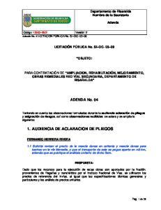 1. AUDIENCIA DE ACLARACION DE PLIEGOS