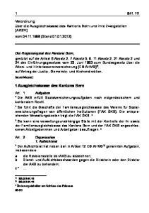 1 Ausgleichskasse des Kantons Bern