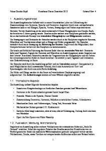 1. Ausstellungskonzept Thematische Aspekte Publikation, Werbung, Merchandising