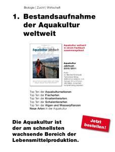 1. Bestandsaufnahme der Aquakultur weltweit