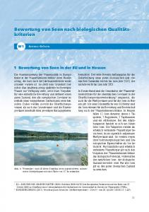 1 Bewertung von Seen in der EU und in Hessen