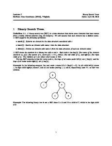 1 Binary Search Trees