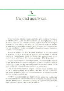 1. Calidad asistencial