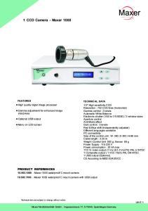 1 CCD Camera - Maxer 1000