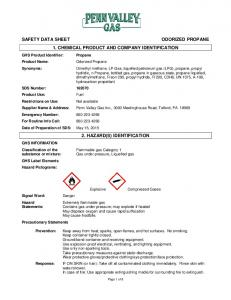 1. CHEMICAL PRODUCT AND COMPANY IDENTIFICATION 2. HAZARD(S) IDENTIFICATION