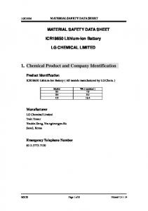 1. Chemical Product and Company Identification