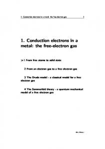 1. Conduction electrons in a metal: the free-electron gas