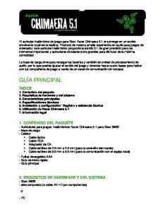 1. CONTENIDO DEL PAQUETE