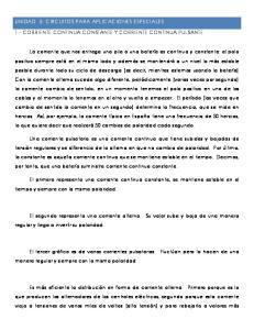 1.- CORRIENTE CONTINUA CONSTANTE Y CORRIENTE CONTINUA PULSANTE