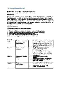 1. Course Syllabus & Content
