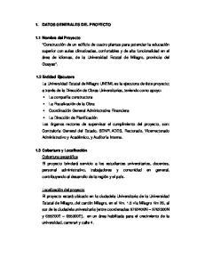 1. DATOS GENERALES DEL PROYECTO