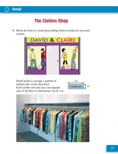 1 David & Claire is a retail shop selling fashion clothes for men and women