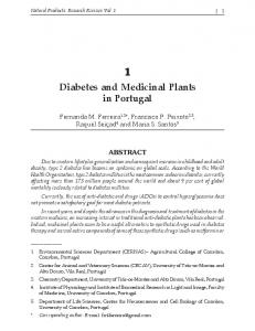 1 Diabetes and Medicinal Plants in Portugal