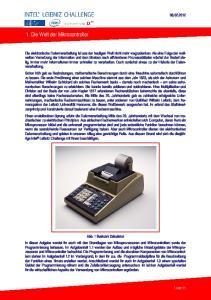 1. Die Welt der Mikrocontroller