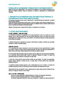 1. DOCUMENTO DE INFORMACIÓN PARA TRATAMIENTO QUIRÚRGICO DE LA ENFERMEDAD DE DUPUYTREN (FASCITIS PALMAR)