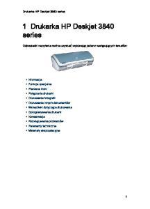 1 Drukarka HP Deskjet 3840 series
